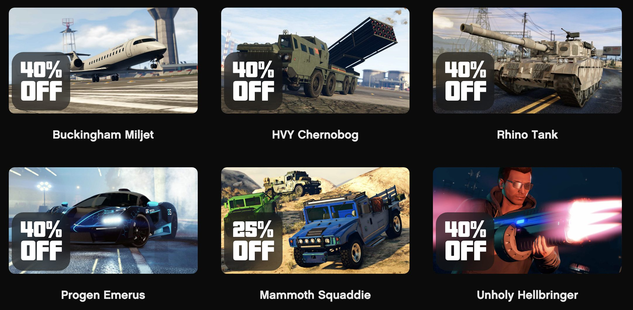 GTA Online Promotions Semaine du 11 Mars