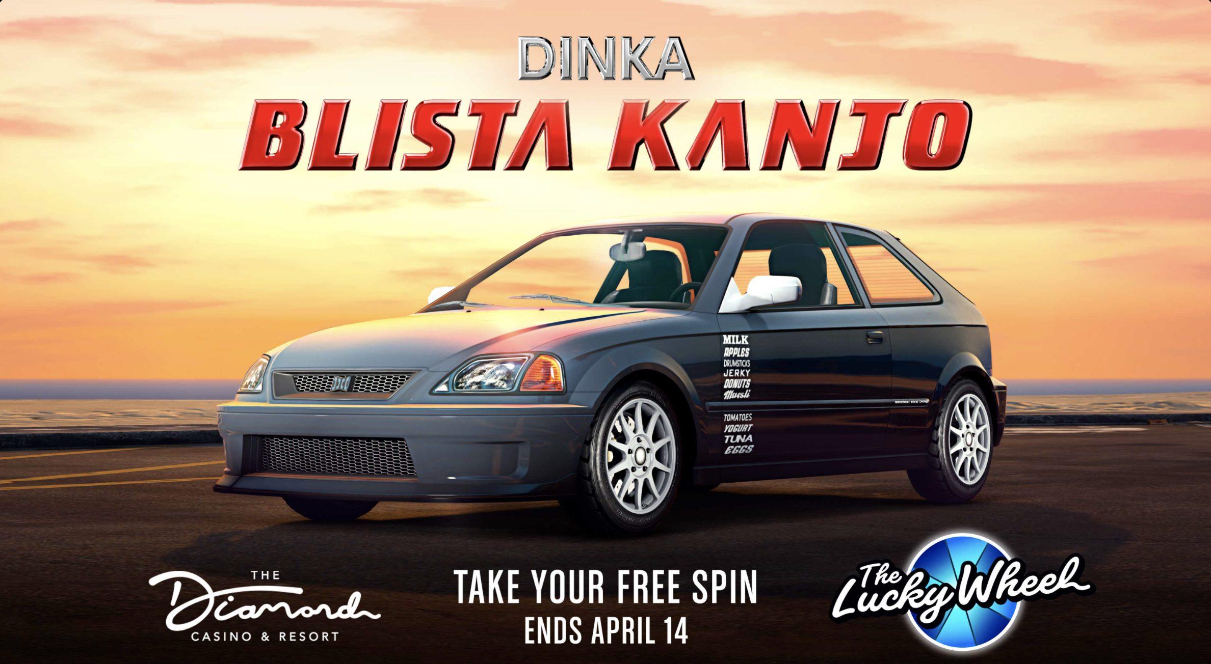 La Blista Kanjo sur le podium dans GTA Online