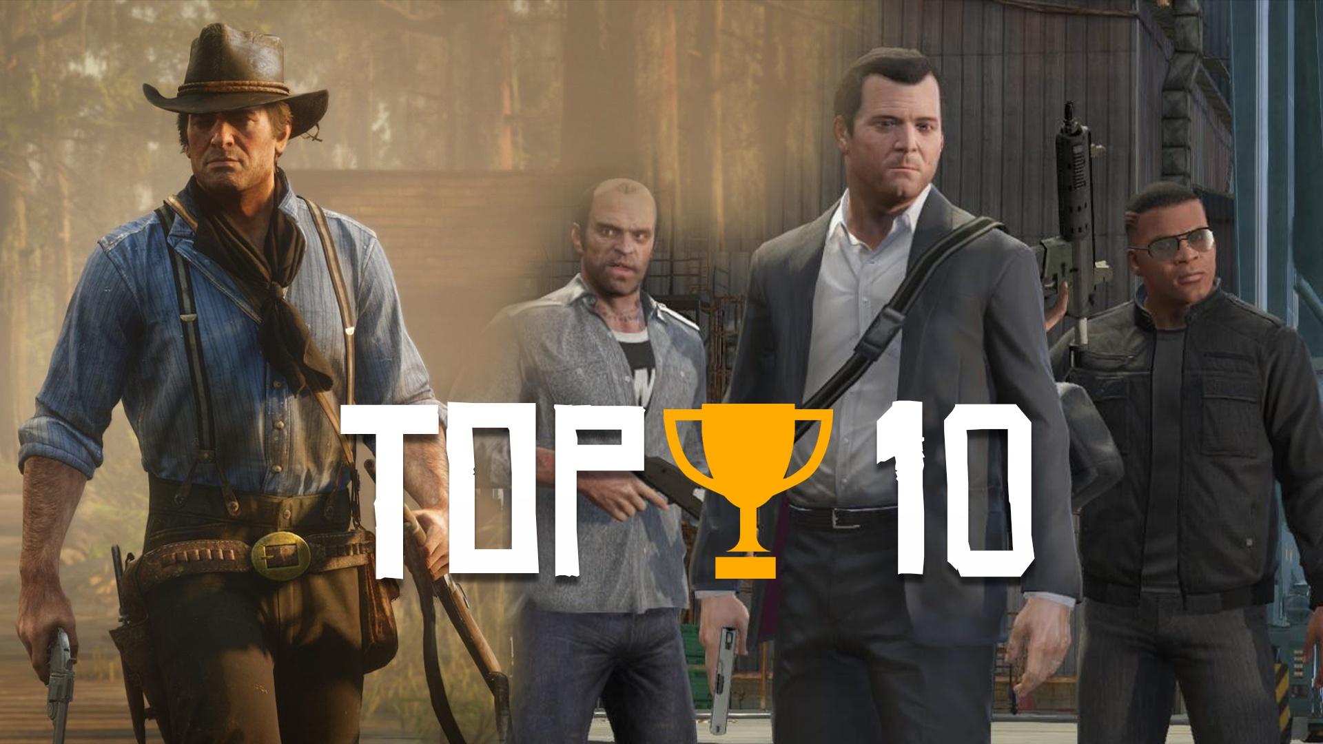 Top 10 pour RDR2 et GTA V des jeux les plus vendus