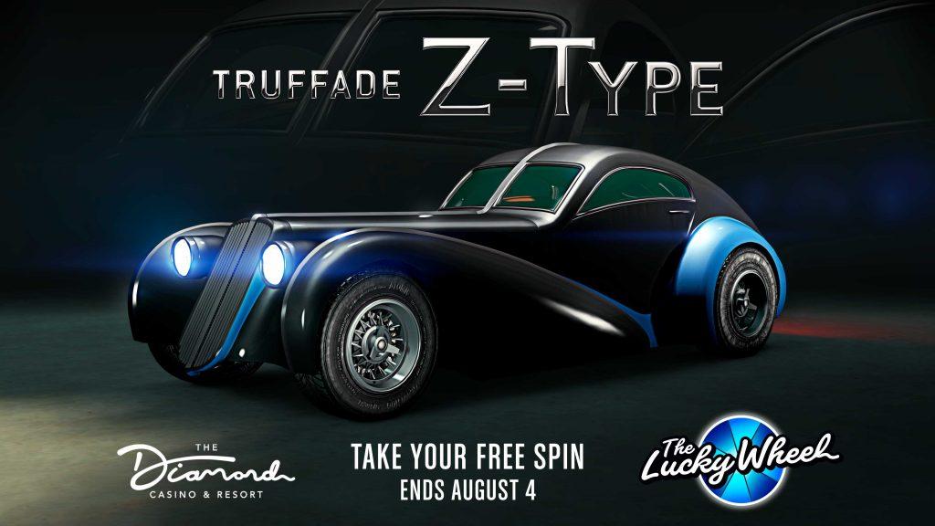 La Truffade Z-Type sur le podium du casino de GTAOnline