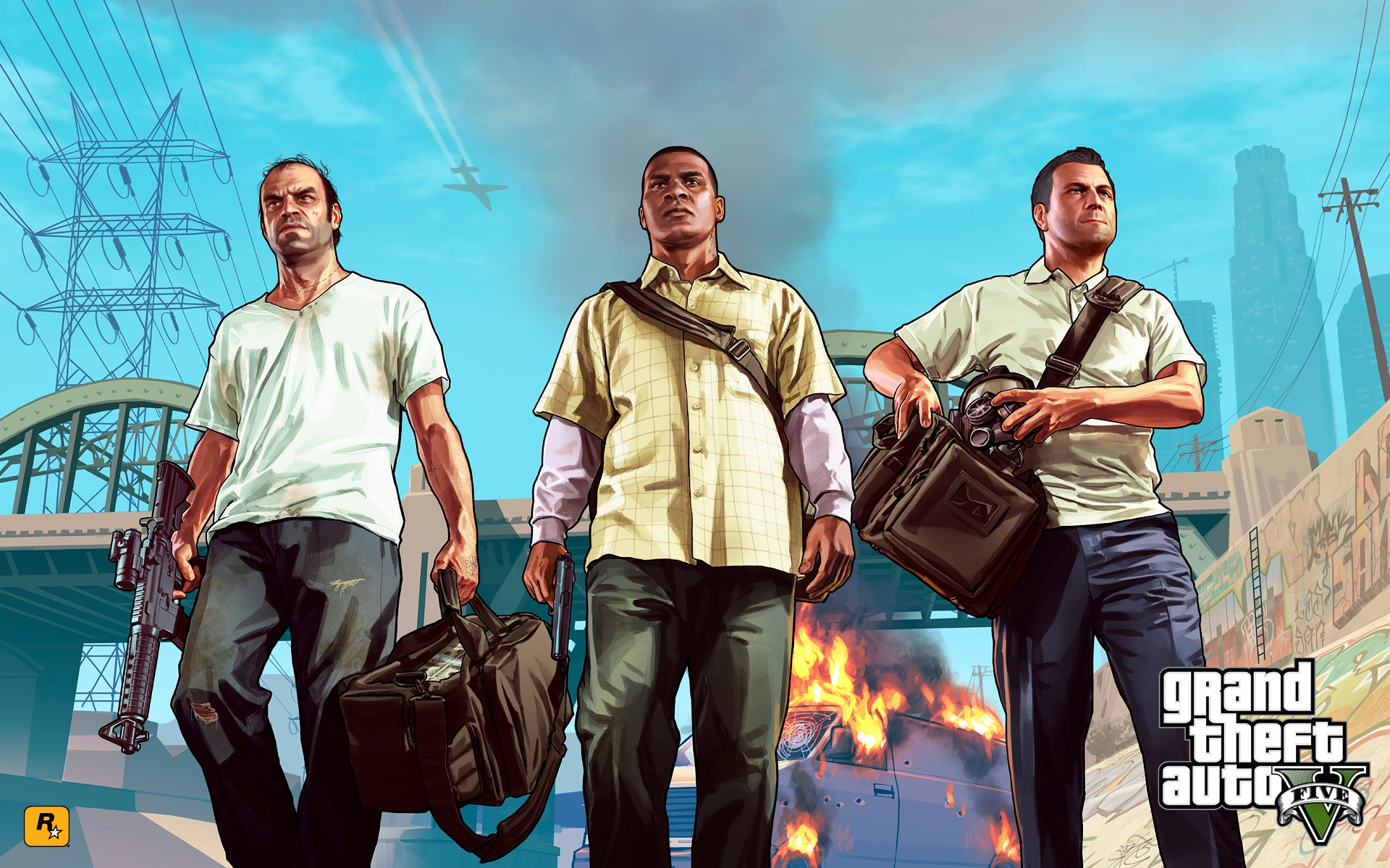 Artwork de la saga Grand Theft Auto