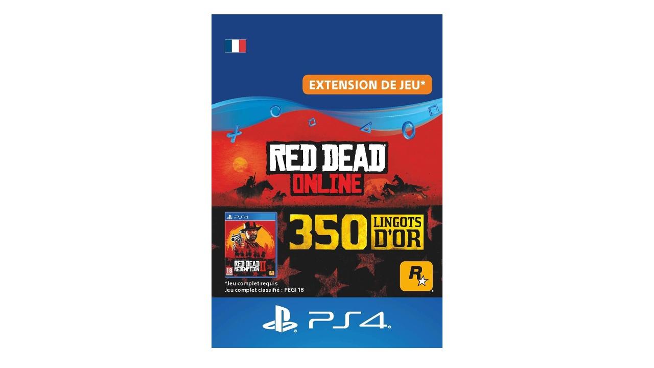 Red Dead Online Pack 350 Lingots d'or