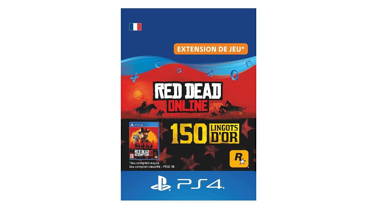 Red Dead Online Pack 150 Lingots d'or