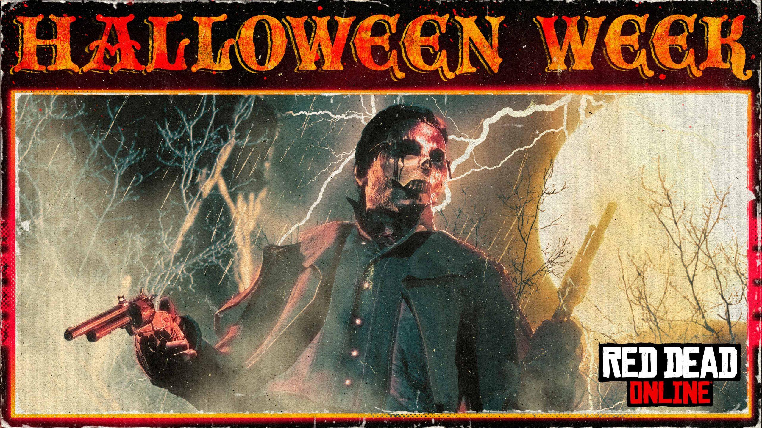 Red Dead Online et sa semaine d'Halloween (bannière du Rockstar Newswire)